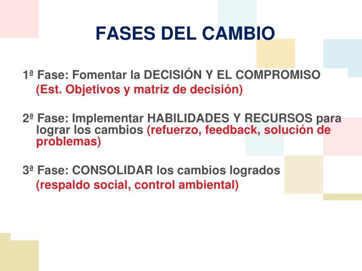 1ª Fase: Fomentar la DECISIÓN Y EL COMPROMISO