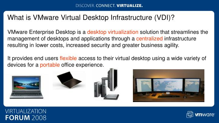 What is VMware Virtual Desktop Infrastructure (VDI)?