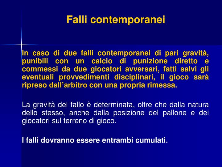 Falli contemporanei