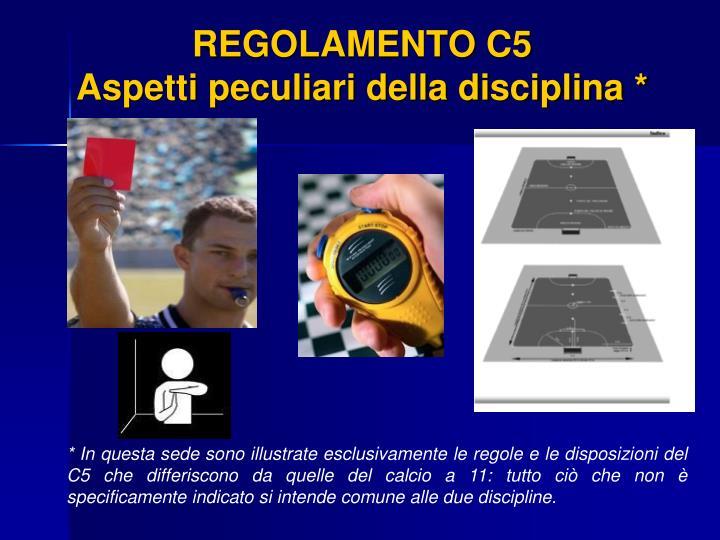 REGOLAMENTO C5