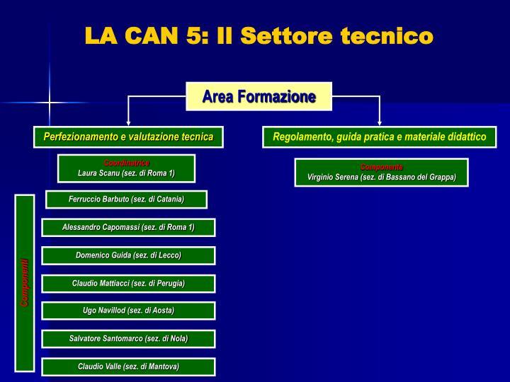LA CAN 5: Il Settore tecnico