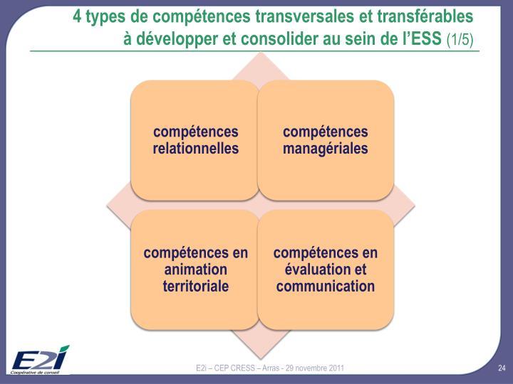 4 types de compétences transversales et transférables