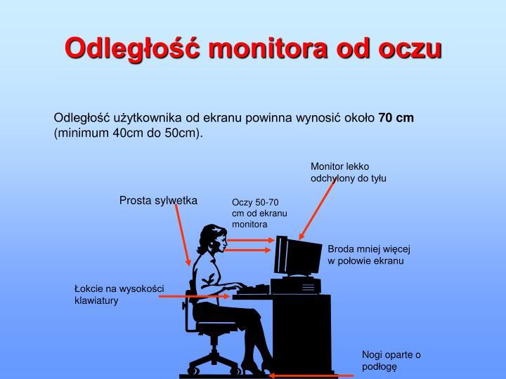 Monitor lekko odchylony do tyłu