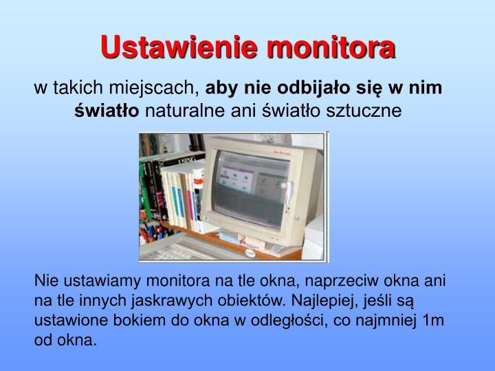 Ustawienie monitora