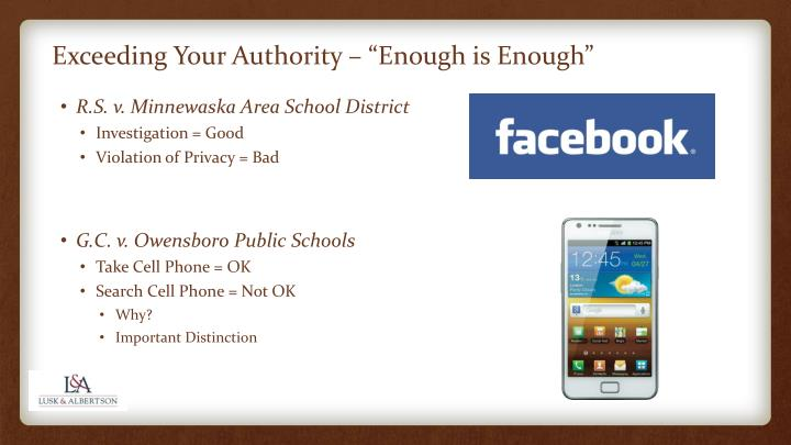 "Exceeding Your Authority – ""Enough is Enough"""