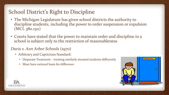 School district s right to discipline