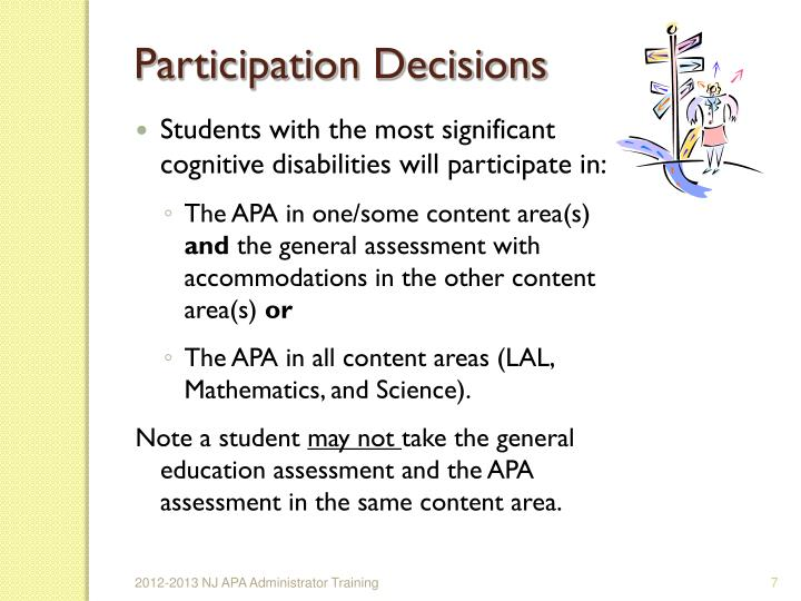 Participation Decisions
