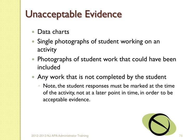 Unacceptable Evidence