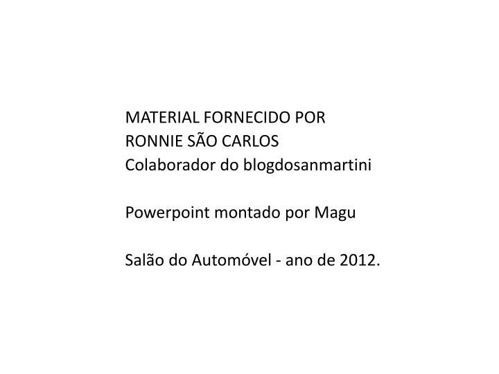 MATERIAL FORNECIDO POR