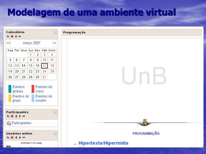 Modelagem de uma ambiente virtual