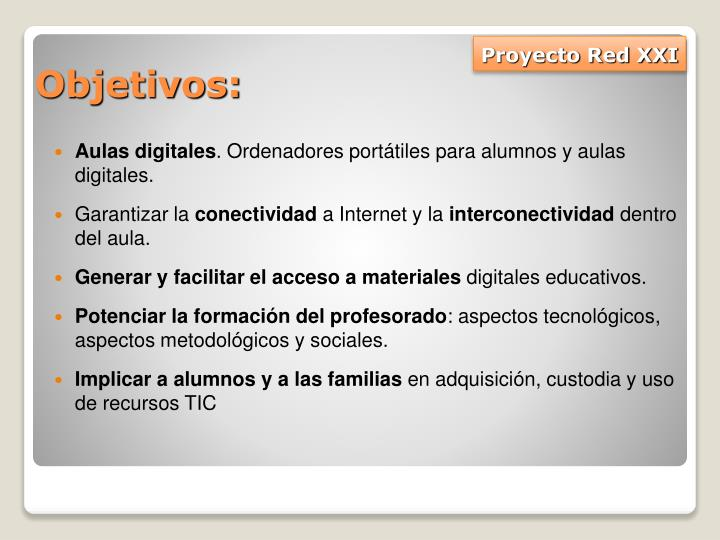 Proyecto Red XXI