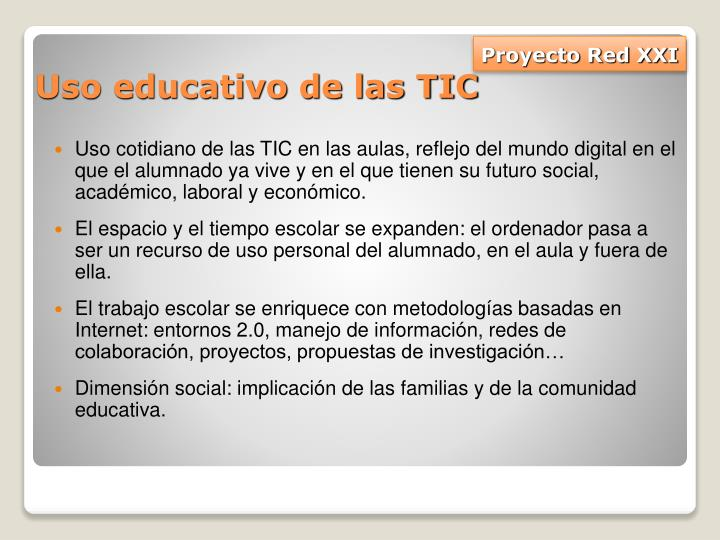 Uso educativo de las TIC