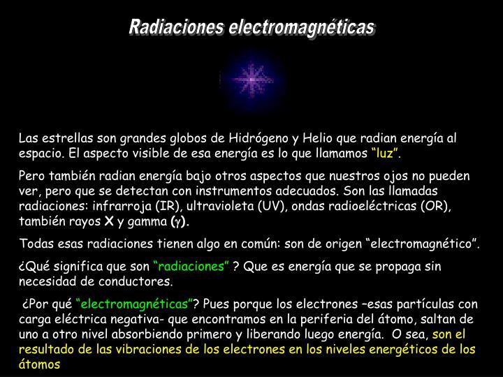 Radiaciones electromagnticas