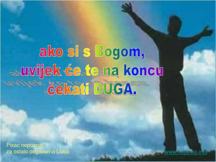 ako si s Bogom,