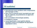 gli audiolesi