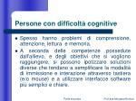 persone con difficolt cognitive
