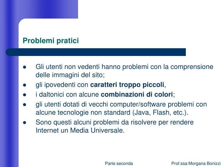 Problemi pratici