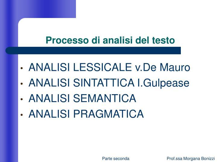 Processo di analisi del testo