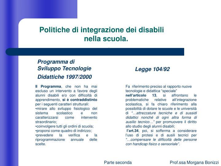 Politiche di integrazione dei disabili