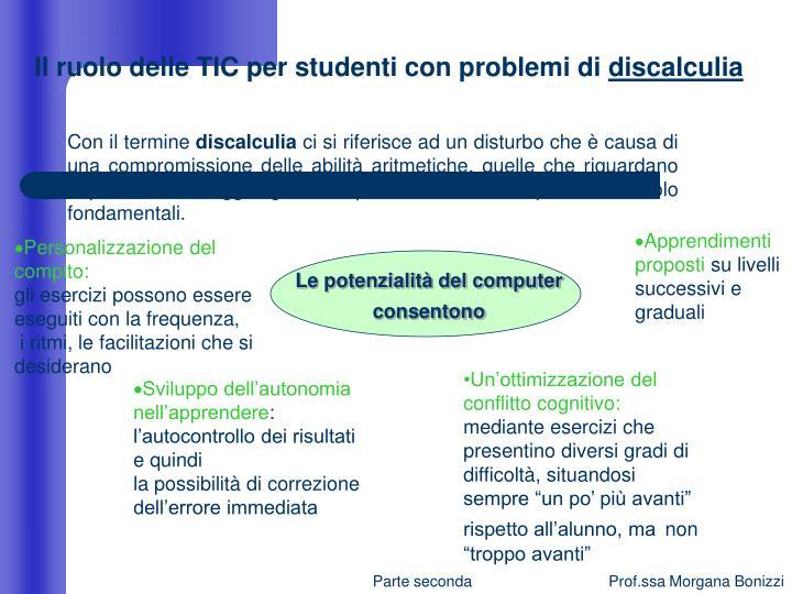 Il ruolo delle TIC per studenti con problemi di