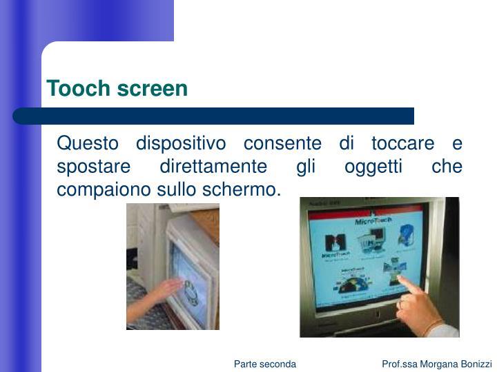 Tooch screen
