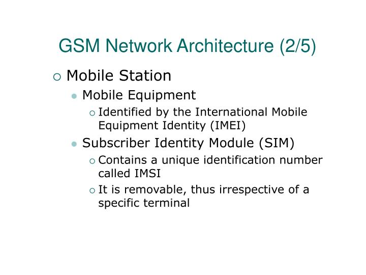 GSM Network Architecture (2/5)