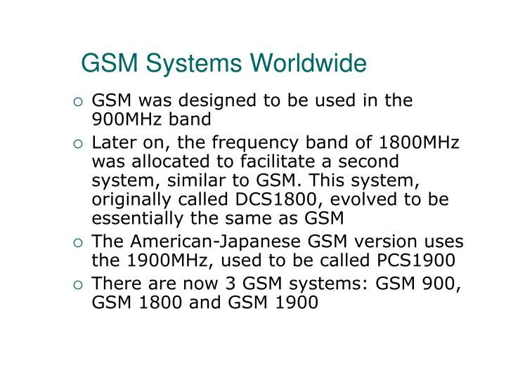 GSM Systems Worldwide