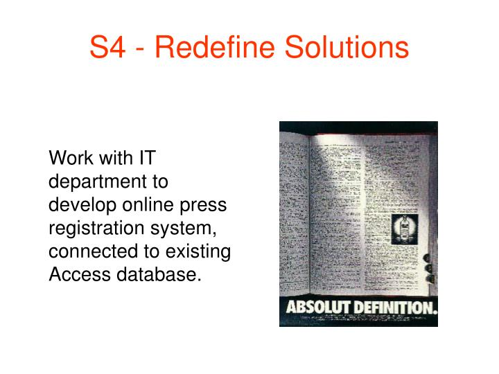S4 - Redefine Solutions