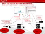 avaya voice portal multi site management single point of administration management and reporting