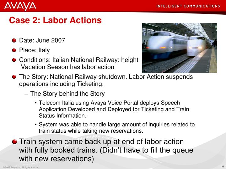 Case 2: Labor Actions