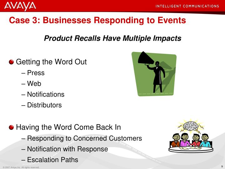 Case 3: Businesses Responding to Events