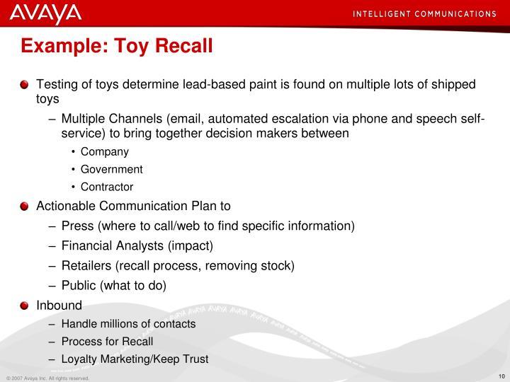 Example: Toy Recall