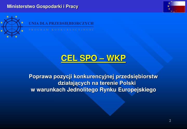 CEL SPO – WKP