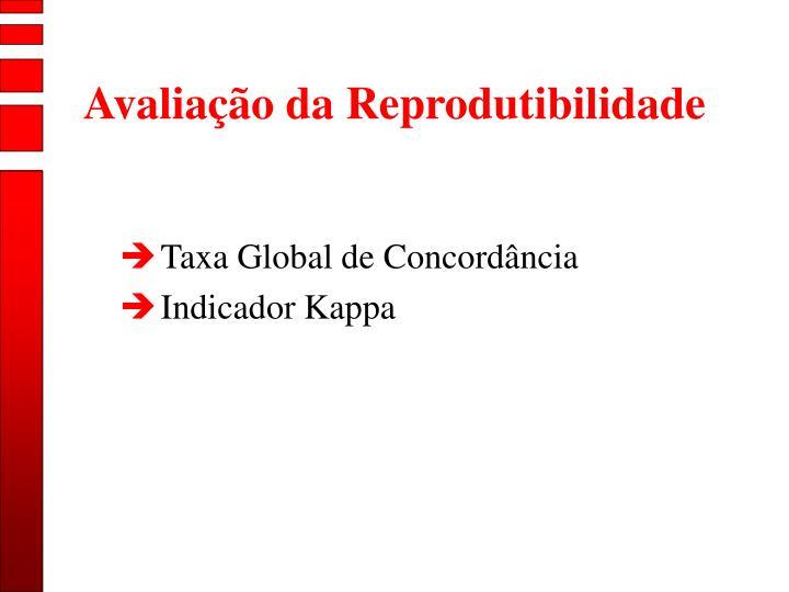 Avaliação da Reprodutibilidade