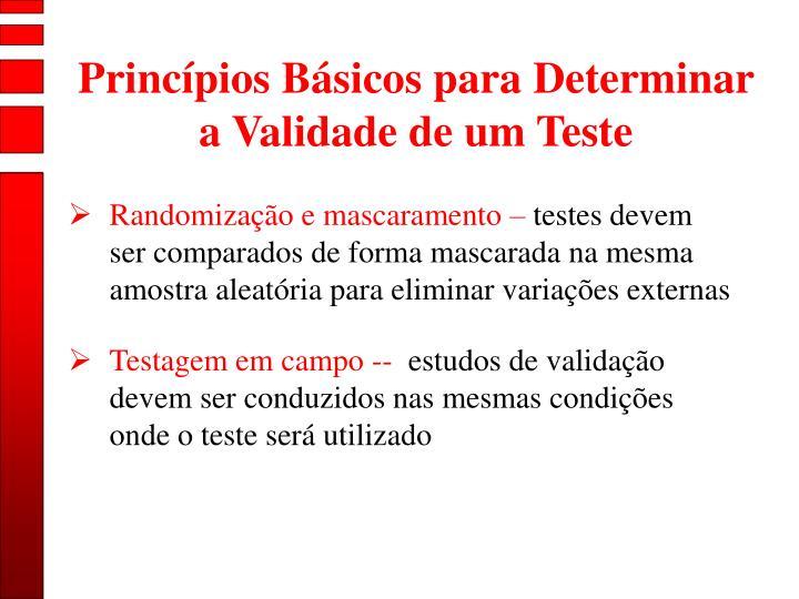 Princípios Básicos para Determinar a Validade de um Teste