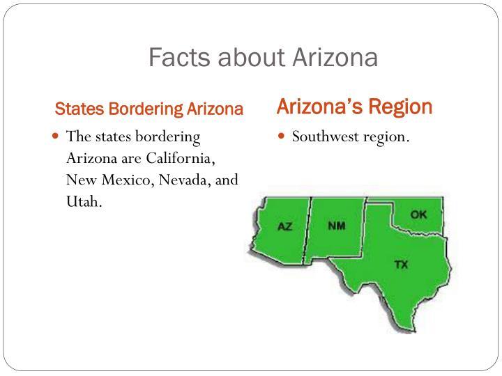 Facts about Arizona