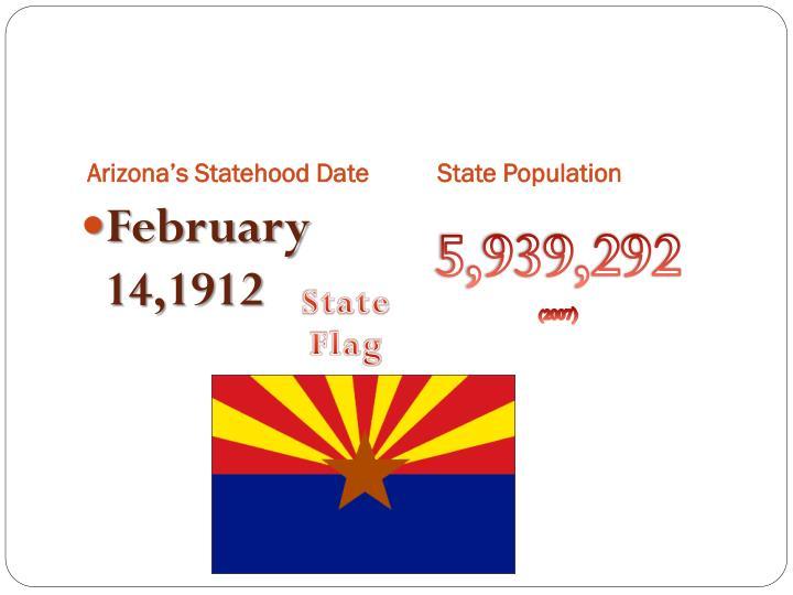Arizona's Statehood Date