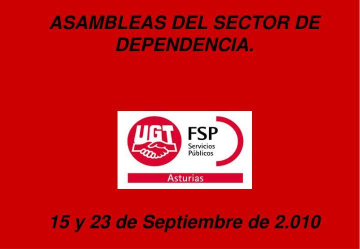 ASAMBLEAS DEL SECTOR DE DEPENDENCIA.