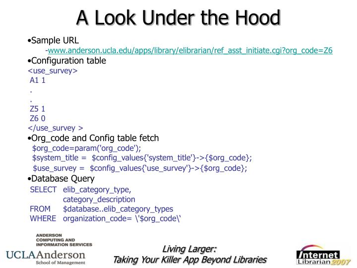 A Look Under the Hood