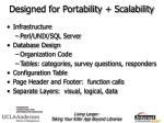 designed for portability scalability