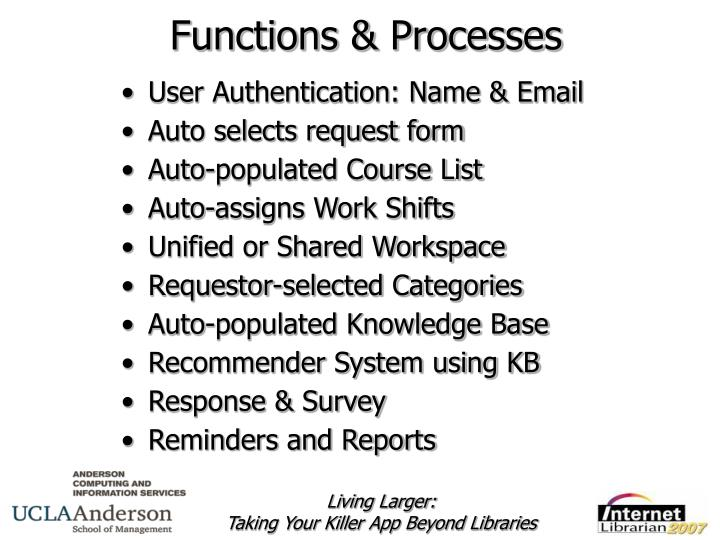 Functions & Processes