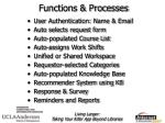 functions processes