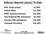 rollouts beyond library to date
