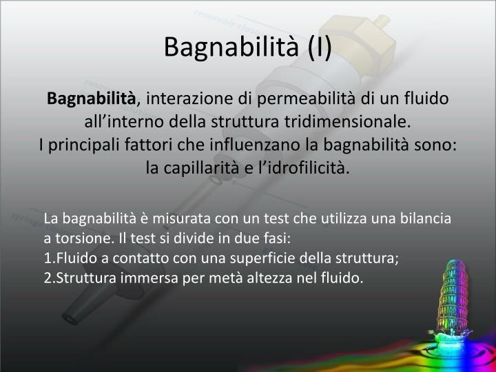 Bagnabilità (I)