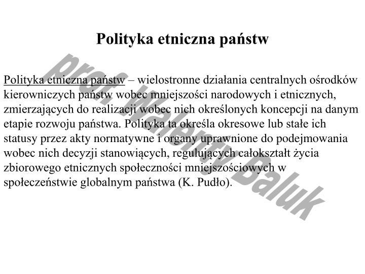 Polityka etniczna państw