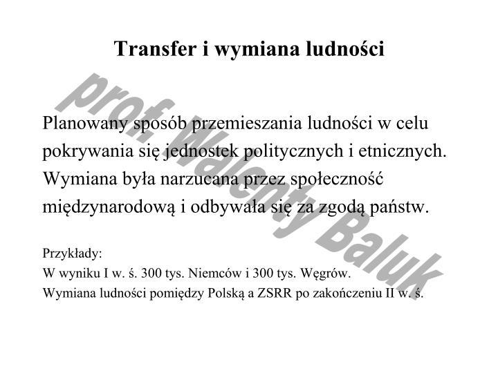Transfer i wymiana ludności