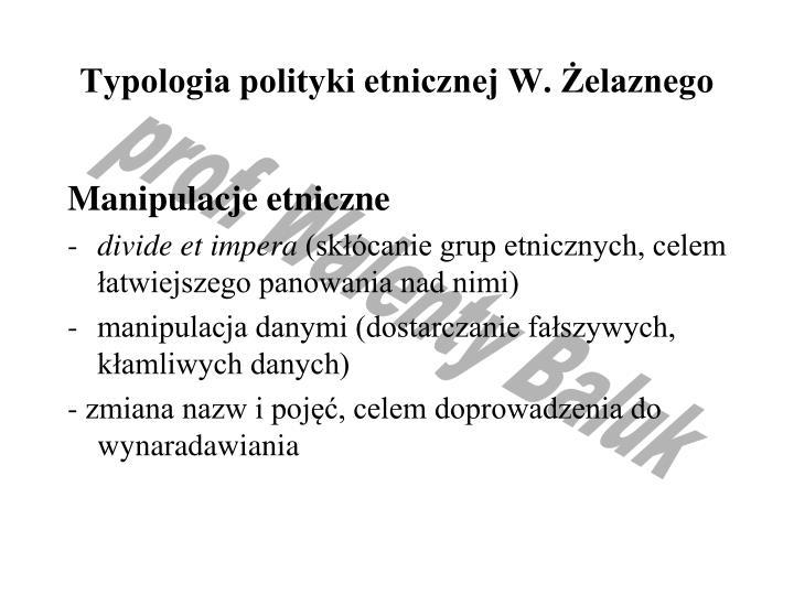 Typologia polityki etnicznej W. Żelaznego