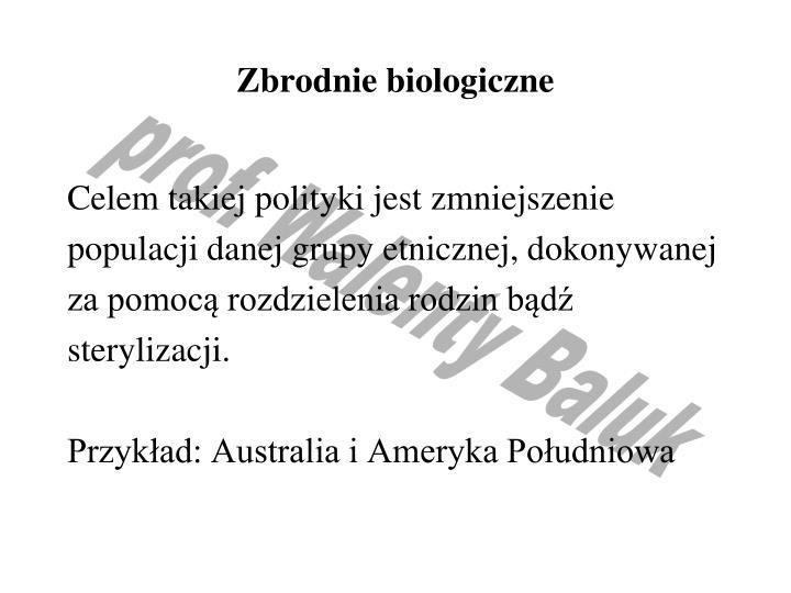 Zbrodnie biologiczne