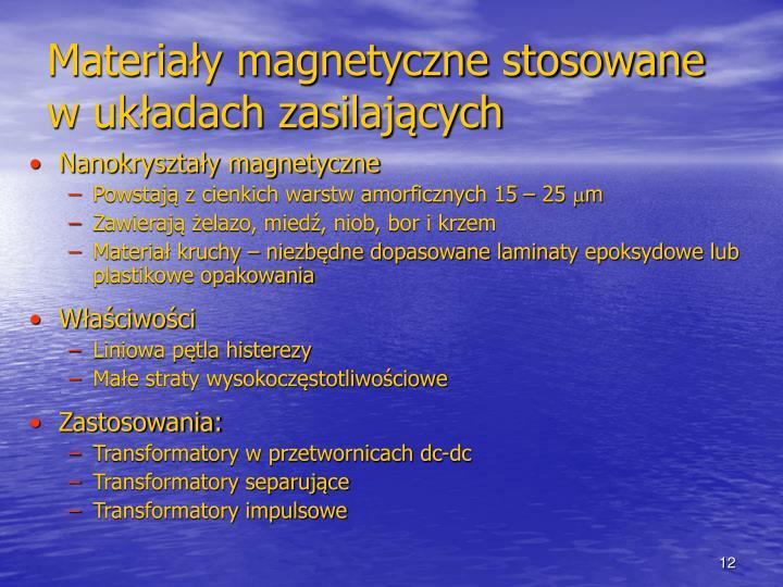 Materiały magnetyczne stosowane w układach zasilających