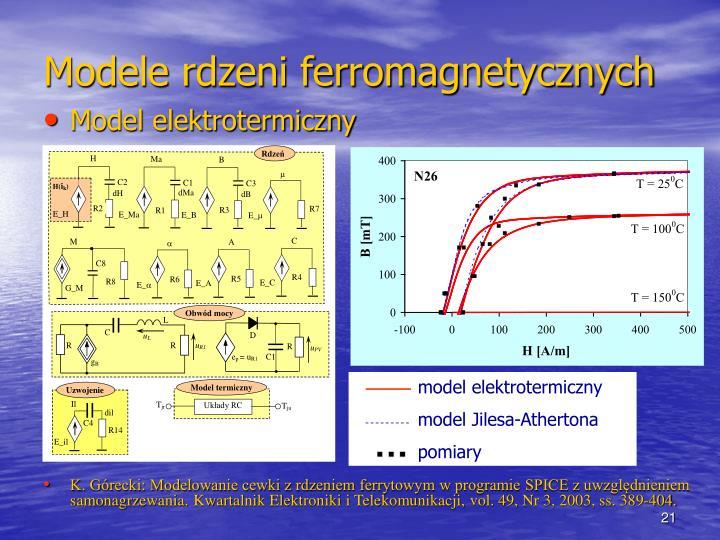 model elektrotermiczny